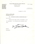 Baseball HOF - Commissioner - Bowie Kuhn signed Letter from 1955