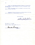 Branch Rickey & Red Barber Signed Brooklyn Dodgers 1949-51 Broadcasting Baseball Contract
