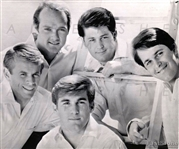 "1966 ""The Beach Boys"", Early Studio Photo of Influential Rock Band"
