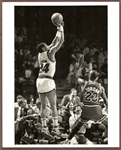 1988 Michael Jordan Defends Jeff Malone Washington Bullets Original Photo