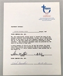 Cy Young Winner – Steve Stone Signed 1981 Topps contract Baltimore Orioles