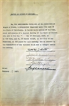 Tennis Hall Of Famer – Bill Johnston (D. 1946) & Baseball HOFer – George Wright Signed Document PSA/DNA