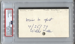 Willie Wells Baseball HOF Signed 3x5 Index Card Negro Leagues PSA/DNA
