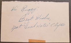 Nat Sweetwater Clifton Signed GPC postmarked from his rookie year Basketball HOF