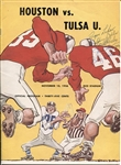 1956 Tulsa vs Houston Signed Football Program Bobby & Glenn Dobbs