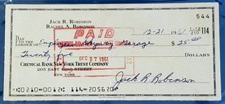 1960 Jackie Robinson Signed Check PSA/DNA 9 - Brooklyn Dodgers Baseball HOF