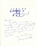 George McAfee Signed Letter Outlining a Football Play Pro FB HOF