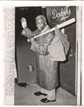 Jackie Robinson Waves Goodbye To Brooklyn Dodgers Forever Original AP Photo 1957