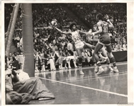 1974 Dr. J -  Julius Erving – NY Nets vs Virginia Squires original ABA TYPE I Photo