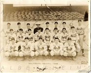 1938 Baltimore Orioles Team Issued 8x10 Photo w/ Rogers Hornsby