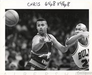 Michael Jordan  & Chris Jackson Fight For Loose Ball 1991 Original Photo