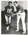 Frank Gifford & Allie Sherman Original TYPE I photo NY Giants