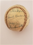 Frank Home Run Baker Multi-Signed 1956 Banquet Baseball PSA/DNA