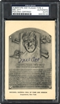 Mel Ott Signed B&W Hall of Fame Plaque Postcard PSA/DNA