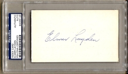 Elmer Layden 4 Horsemen of Notre Dame College FB HOF signed Index Card PSA/DNA