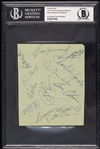 Roberto Clemente 1971-1972 Pittsburgh Pirates Multi-Signed Album Page