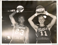 1968 ABA Basketball New Orleans Buccaneers  - Steve Jones & Ron Franz Original TYPE I photo