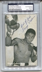 Floyd Patterson Signed 1947-66 Exhibits Card Heavyweight Champ Boxing HOF PSA/DNA