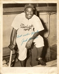 Jackie Robinson Signed Original Photo Brooklyn Dodgers PSA/DNA LOA Graded 9
