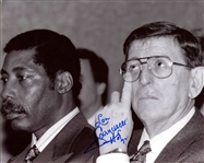 Lou Carnesecca Signed Photo St Johns Basketball HOF signed Photo with Connie Hawkins