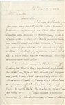 Artist Rembrandt Peale Signed Handwritten Letter w/George Washington Content PSA/DNA