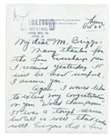 "1945 Boston Red Sox Owner Tom Yawkey ""Southern Plantation"" Signed Handwritten Letter PSA/DNA"