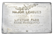 1940s Baseball HOFer - Rube Marquard Major Leagues Lifetime Pass