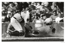 1994 Kirby Puckett slides safe into Home to Score final game winning run of Game Original Photo
