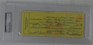 Vince Lombardi TWICE signed check from 1963 Green Bay Packers PSA/DNA