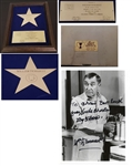 William Demarest Hollywood Walk of Fame Award & AUTO Signed Photo My Three Sons