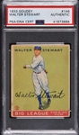 1933 Goudey R319 #146 Walter Lefty Stewart (D.1974) Signed PSA/DNA