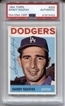 1964 Topps Sandy Koufax Signed AUTOGRAPHED Card #200 PSA/DNA
