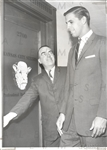 Kansas City Steers GM – Mike Cleary with John Windsor in 1962 Original Photo ABL Basketball