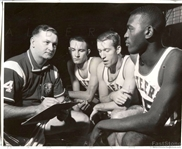 Kansas City Steers Stars with Head Coach Jack McMahon ABL Basketball Original Photo