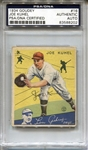 1934 Goudey Baseball Card #16 Joe Kuhel D.1984 Signed PSA/DNA