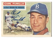 Carl Furillo 1956 Topps BROOKLYN DODGERS #190 Baseball Card AUTO AUTOGRAPH Signed