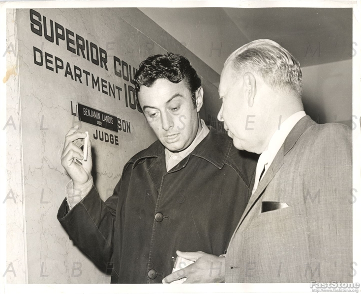 Iconic Comedian Lenny Bruce Booked in 1963 on Heroin Charges Original Press Photo