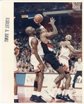 Michael Jordan vs. Clyde Drexler in the 1992 NBA Playoffs Original Photo