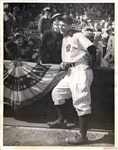 Lou Gehrig In Pinstripes with Eleanor Gehrig at World Series TYPE I original Photo