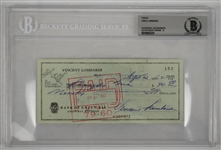 Vince Lombardi Signed Check from September 30, 1962 Green Bay Packers (BAS) 9