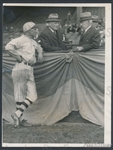 1925 Baseball HOFers George Wright & Dave Bancroft with Jack Manning Original TYPE I photo