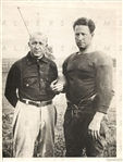 Knute Rockne Notre Dame Football & Captain Glen Carberry 1923 TYPE I original Photo