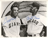 Willie Mays & Monte Irvin signed 8x10 photo