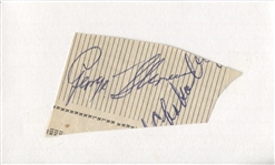 George Snuffy Stirnweiss Autograph Signed Cut 3x5 Index Card D. 1958 JSA COA