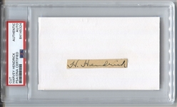 Harvey Hendrick 1923 Yankees Autograph Signature 3x5 index card D.1941