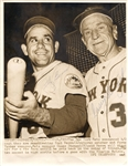 New York Mets HOFers – Casey Stengel & Yogi Berra Signed 7x9 Photo