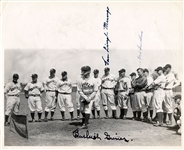 1937 Brooklyn Dodgers Spring Training Photo Signed by 3 – w/ Burleigh Grimes