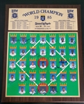 1985 Kansas City Royals MILLER LITE WORLD CHAMPION Team Signed PLAQUE