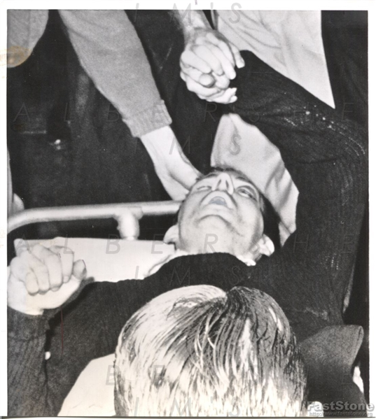 "1963 Lee Harvey Oswald, ""Mortally Wounded in Dallas"" 10 Minutes Before Death! Original Photo"