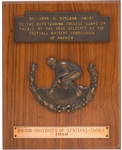 1950 Outland Trophy Award Presented to Kentucky College Football HOFer Bob Gain